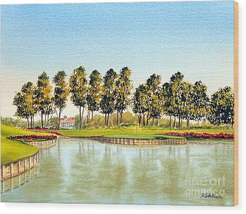 Sawgrass Tpc Golf Course 17th Hole Wood Print