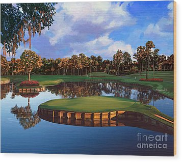 Sawgrass 17th Hole Wood Print