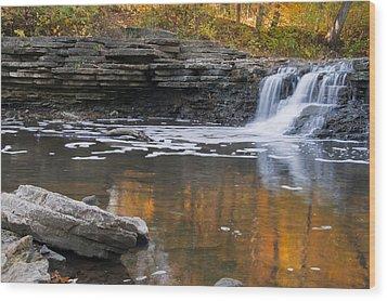 Sawmill Creek 3 Wood Print by Larry Bohlin