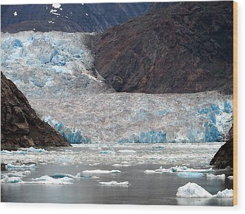 Wood Print featuring the photograph Sawyer Glacier by Jennifer Wheatley Wolf