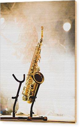 Saxophone  Wood Print by Bob Orsillo