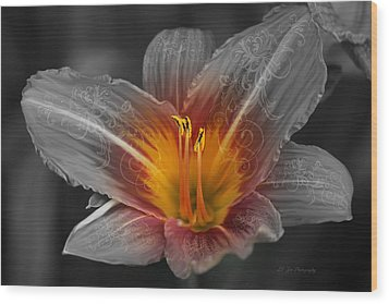 Say Something Wood Print by Jeanette C Landstrom