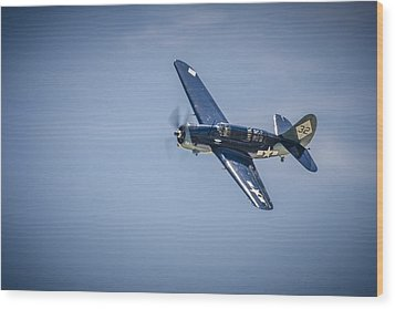 Wood Print featuring the photograph Sb2c Helldiver by Bradley Clay