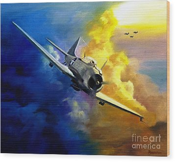 Sbd Dauntless Wood Print