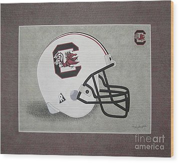 S.c. Gamecocks T-shirt Wood Print by Herb Strobino
