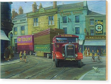 Scammell Showtrac Wood Print by Mike  Jeffries