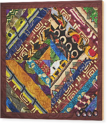 Scandalous Wood Print by Aisha Lumumba