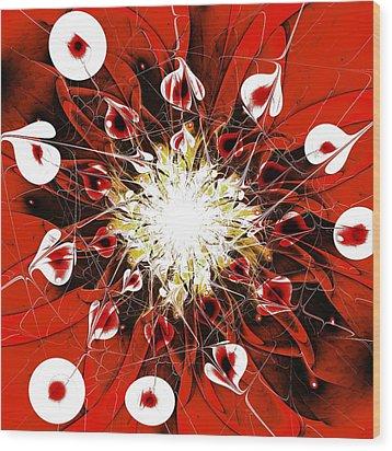 Scarlet Wood Print by Anastasiya Malakhova