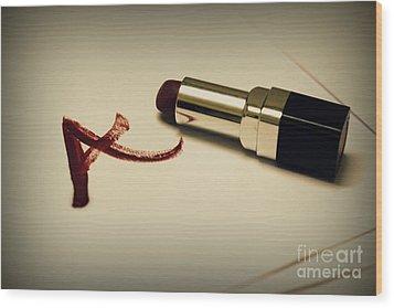 Scarlet Letter Wood Print by Vishakha Bhagat