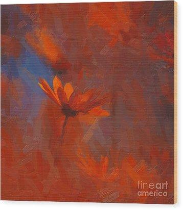 Scarlet Petals  Wood Print