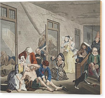Scene In Bedlam, Plate Viii, From A Wood Print by William Hogarth