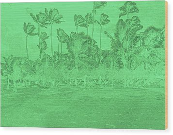 Scene In Green Wood Print by Mustafa Abdullah