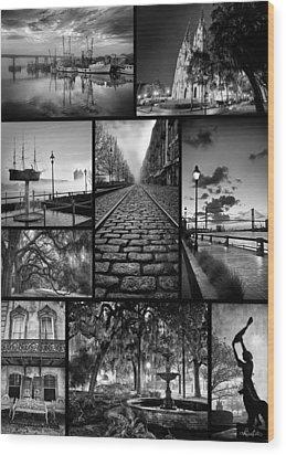 Scenes From Savannah Wood Print