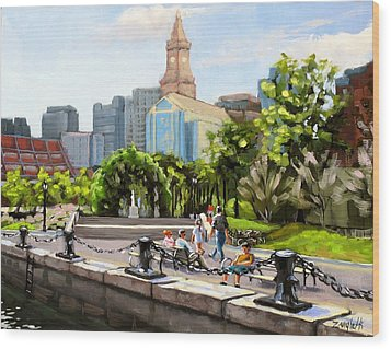Scenic Boston Wood Print