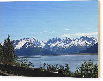 Wood Print featuring the photograph Scenic Byway In Alaska by Kathy  White