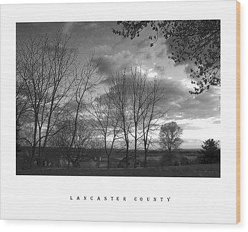 Scenic Lancaster County Wood Print