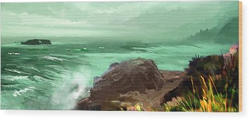 Scenic Pacific Wood Print by Dale Stillman