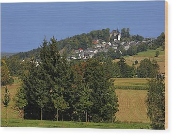 Schauenstein - A Typical Upper-franconian Town Wood Print by Christine Till