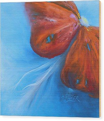 Schmetterlingsblume Wood Print by Karen  Kreuzer
