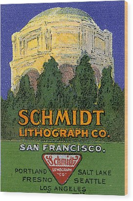 Schmidt Lithograph  Wood Print by Cathy Anderson