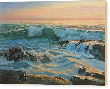 Schoodic Point Before Sunrise  Wood Print by Paul Krapf