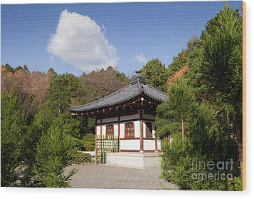 School Building Ryoan-ji Temple Kyoto Wood Print by Colin and Linda McKie