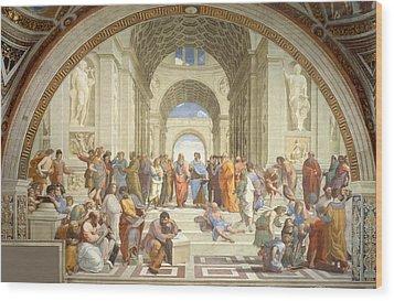 School Of Athens Wood Print by Raphael
