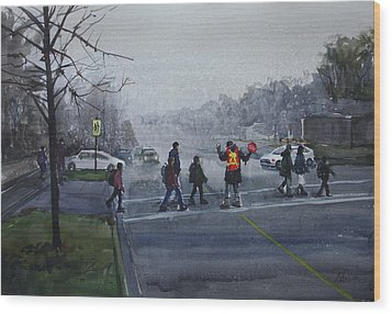 School Traffic Wood Print by Helal Uddin