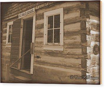 Schoolhouse Wood Print by Terri K Designs