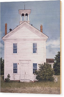 Schoolhouse Wood Print