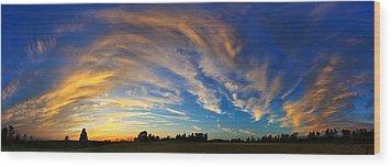 Schoolyard Sunset 1 Wood Print by ABeautifulSky Photography