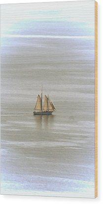 Schooner 1 Wood Print by Joe Faherty