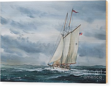Schooner Adventuress Wood Print