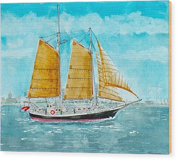 Schooner Spirit Of Independence Wood Print