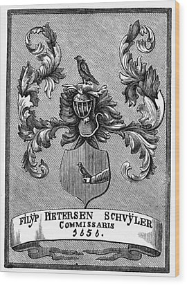 Schuyler Family Arms Wood Print by Granger