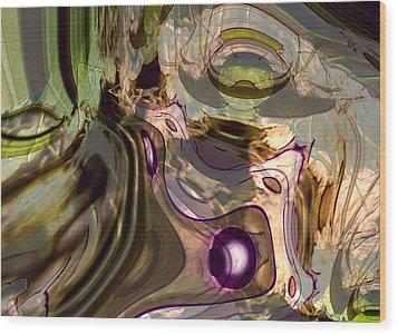 Wood Print featuring the digital art Sci-fi Fury by Richard Thomas