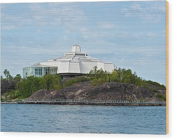 Wood Print featuring the photograph science center North in Sudbury Ontario Canada by Marek Poplawski