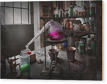 Science - Chemist - Chemistry For Medicine  Wood Print by Mike Savad