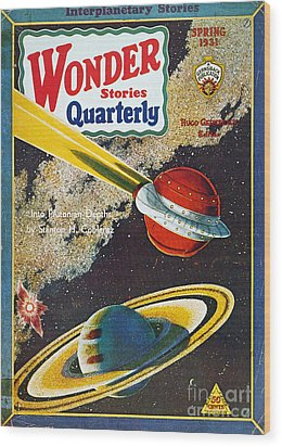 Science Fiction Cover, 1931 Wood Print by Granger