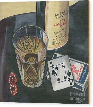 Scotch And Cigars 2 Wood Print by Debbie DeWitt