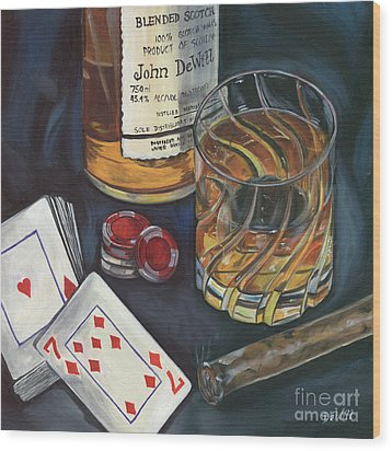 Scotch And Cigars 4 Wood Print by Debbie DeWitt