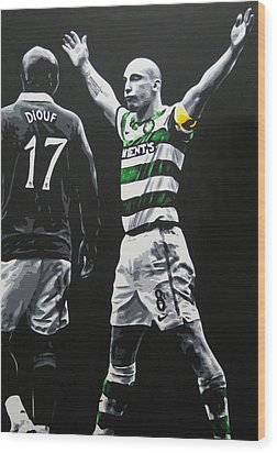 Scott Brown - Celtic Fc Wood Print