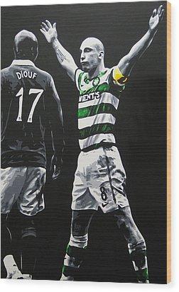 Scott Brown - Celtic Fc Wood Print