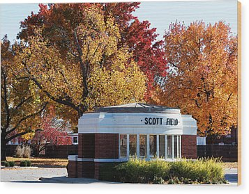 Scott Field  Old Main Gate  Wood Print