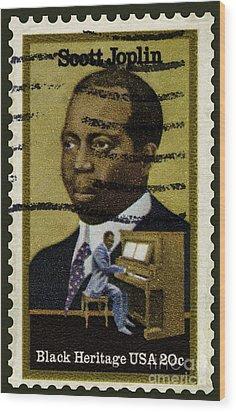 Scott Joplin Stamp Wood Print