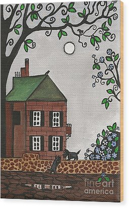 Scotties On An Overcast Day Wood Print by Margaryta Yermolayeva