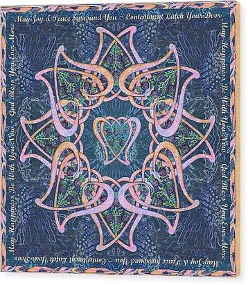 Scottish Blessing Celtic Hearts Duvet Wood Print
