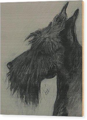 Scottish Delight Wood Print by Cori Solomon