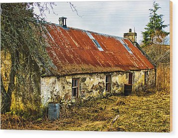 Scottish Highland Croft Wood Print by Jacqi Elmslie