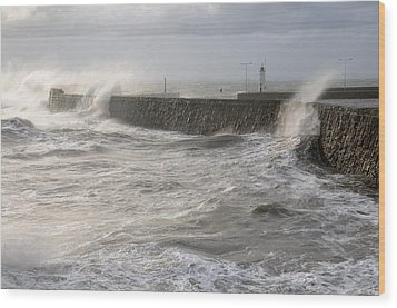 Scottish Sea Storm Wood Print